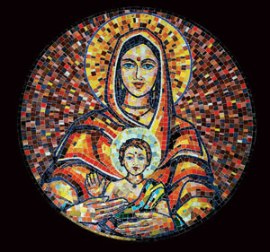 Mary and Jesus Indian style