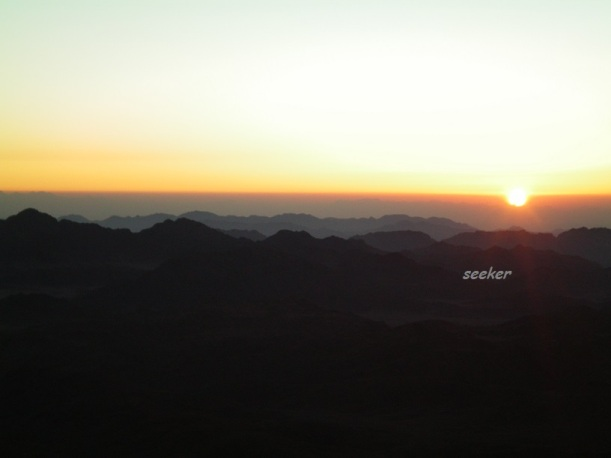 Sunrise at Mt. Sinai, Egypt