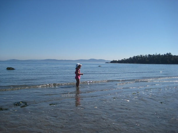 Child wading: Victoria, BC  Canada
