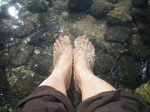 My feet: Sea of Galilee