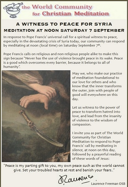 September 7, 2013 World Peace Meditation at Noon
