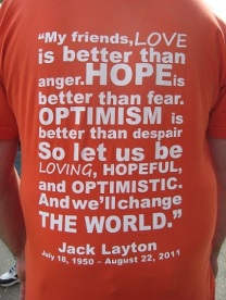 Jack Layton at Trout Lake