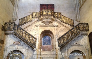 Gilded stairway