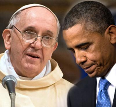obama and pope