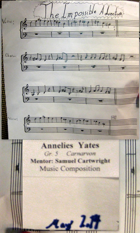 Musical composition by Annelise Yates (Grade 5)