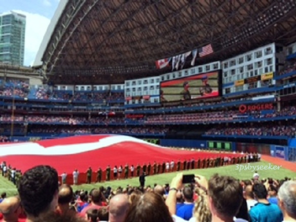Blue Jays Baseball Game on Canada Day, July 1, 2014