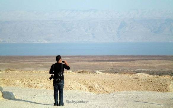 Qumran view of Dead Sea
