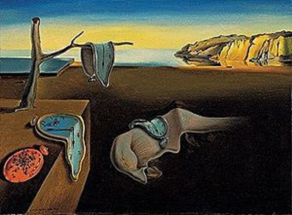 Source: Wikipedia ~ The Persistence of Memory by Dali