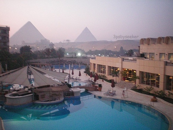 Pyramid from Hotel Egypt