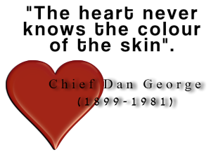The heart never knows the colour of the skin.""