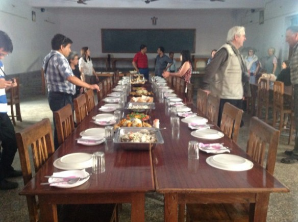 Meal time prepared at a Catholic diocese
