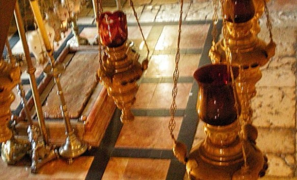 Stone where Jesus's dead body was laid for anointing of the oil (Holy Sepulcher)