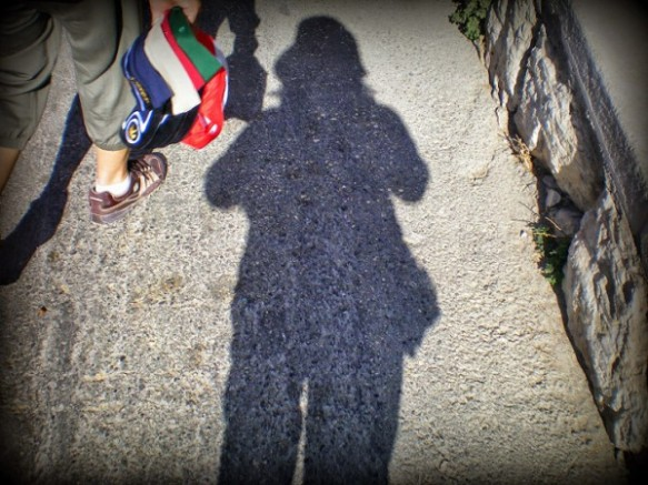 Going Home: My shadow walking the Palm Sunday Walk