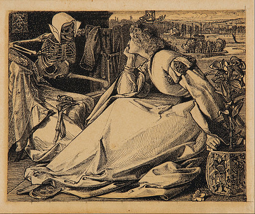 Frederick_A._Sandys_-_Until_her_death_-_preparatory_drawing_for_Good_Words_-_Google_Art_Project
