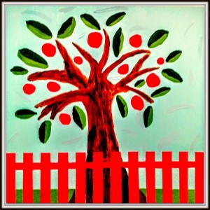 One Apple Tree by Niall McNeil and Jackie Zhuang Niall has spent a lot of time at his uncle's apple farm. He wanted to do a painting that would remind him of that farm. And Jackie likes apples, too!