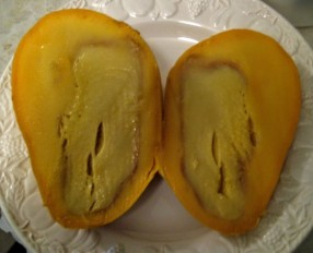 Mango with black spot