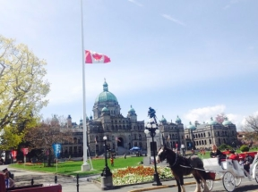 Canada Flag halfmast Day of Mourning