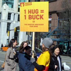 Danger 1 hug = 1 buck