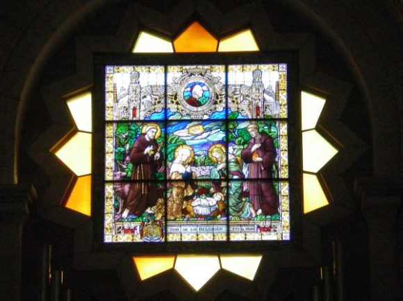 Stained Glass Window at the adjoining church of St. Catherine