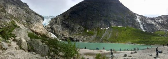 The Lake at Briksdal Glacier - June 2017