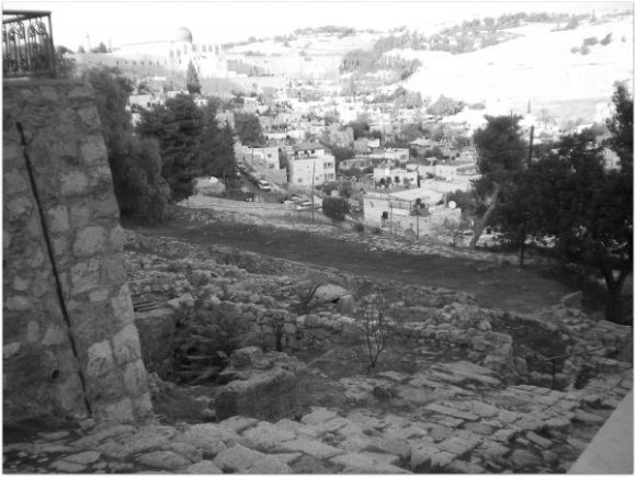 The walk from Mt. Olive to Jerusalem