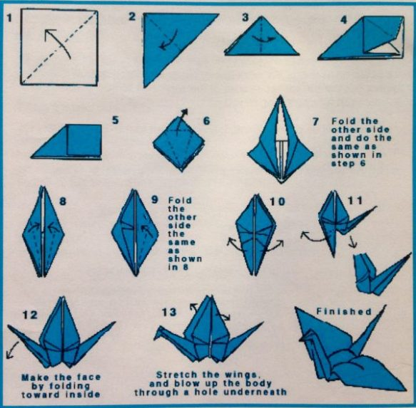 Peace Crane Instructions