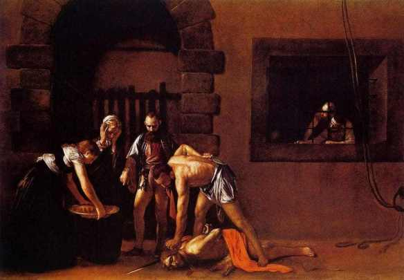 Beheading of St. John the Baptist, 1607 by Caravaggio